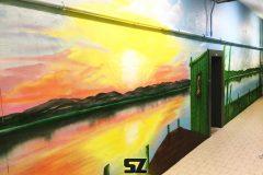 Graffiti-professionnel-decoration-paysage-artiste-peinture-trompe-loeil-bambou-sunset-coucher-de-soleil-peinture-suoz-customsz-decoration-mur-trompe-loeil