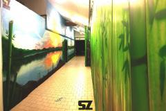 Graffiti-professionnel-decoration-paysage-artiste-peinture-trompe-loeil-bambou-sunset-coucher-de-soleil-peinture-suoz-customsz