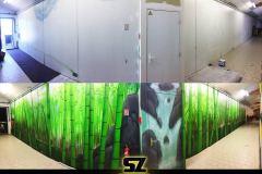 Graffiti-professionnel-decoration-paysage-foret-bamboo-artiste-peinture-trompe-loeil-bambou-sunset-coucher-de-soleil-peinture-mur-suoz-customsz-avant-apres-
