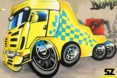 Graffiti-professionel-graffeur-artiste-street-art-scania-camion-caricature-la-rochelle-niort-saintes-bordeaux-rochefort-charentes-maritimes