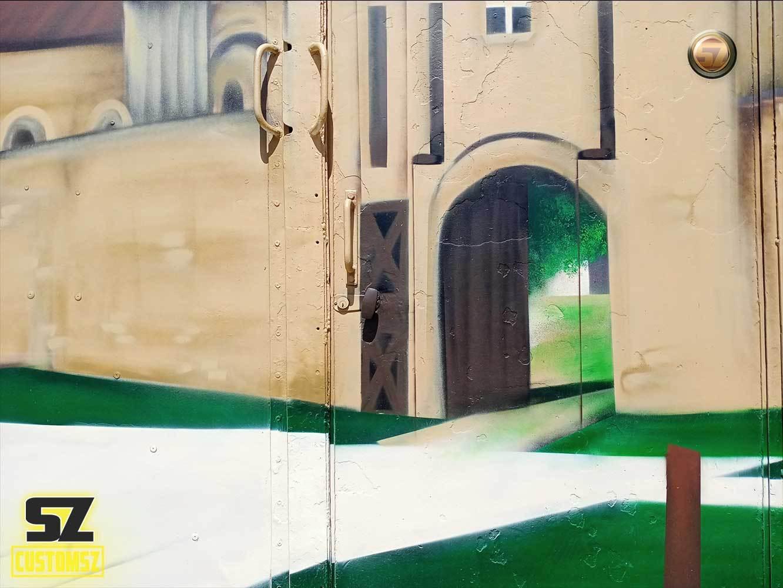 Suoz-CUSTOMSZ-graffeur-professionnel-artisan-graffeur-decoration-mural-mur-paysage-arbre-ville-Surgeres-France-bordeaux-biarritz-la-rochelle