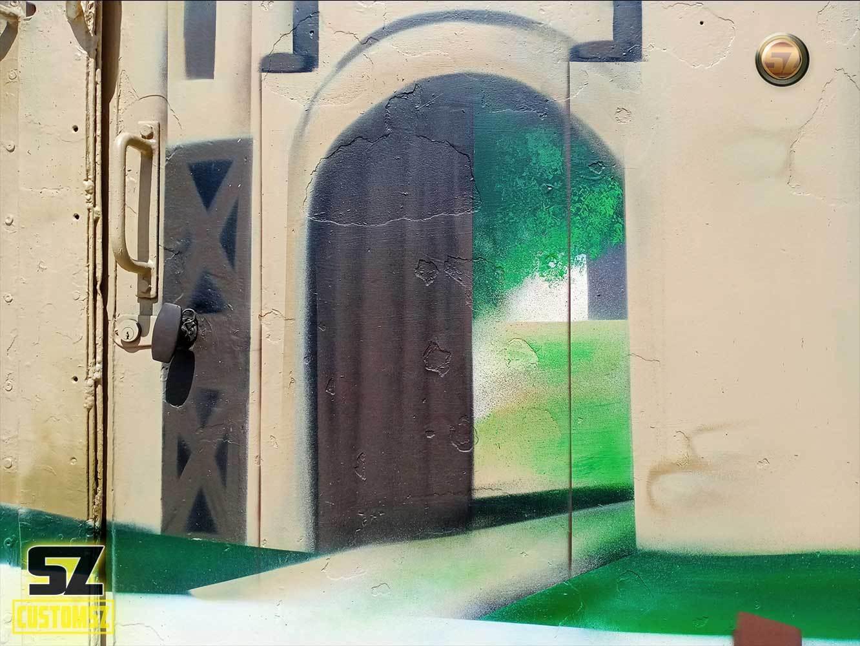 Suoz-graffeur-professionnel-artisan-graffeur-decoration-mural-mur-paysage-arbre-ville-Surgeres-France-bordeaux-biarritz-la-rochelle