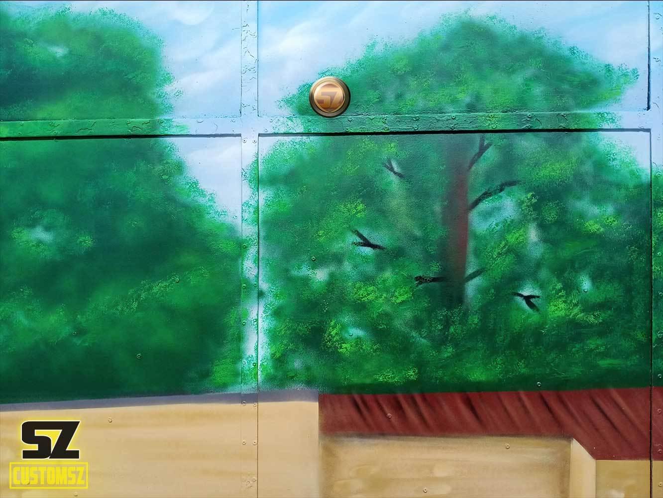 graffeur-professionnel-decoration-mural-mur-paysage-arbre-ville-Surgeres-France-bordeaux-biarritz-la-rochelle