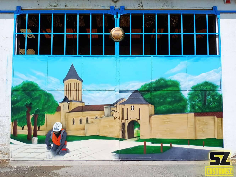 graffeur-professionnel-decoration-mural-mur-paysage-arbre-ville-Surgeres-France-monaco-cannes-nice