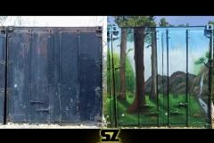 graffiti-decoration-conteneur-artiste-street-art-trompe-loeil-Millau-parc-de-loisirs-des-Bouscaillous-avant-après