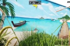 Graffiti-decoration-customsz-Suoz-plage-mer-décor-paysage-street-art-la-rochelle-Niort-charente-maritime