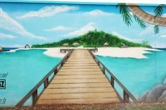 Graffiti-decoration-graffeur-professionel-Suoz-plage-CUSTOMSZ-mer-décor-paysage-street-art-la-rochelle-Niort-charente-maritime