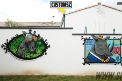 Graffiti-decoration-Suoz-customsz-animaux-tableau-jardin-street-art-la-rochelle-Niort-charente-maritime