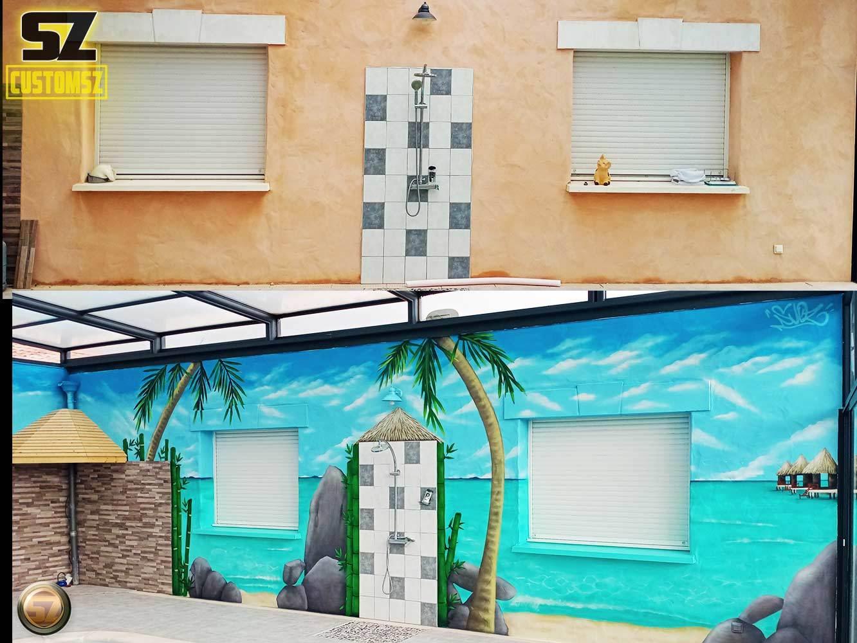 graffeur-professionnel-avant-apres-trompe-loeil-plage-paradisiaque