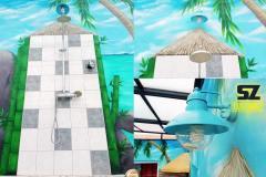 graffeur-professionnel-artiste-decoration-douche-sanitaire-piscine-peintre-decorateur-bambou-plage-tropique-lagon-paysage-trompe-loeil-suoz-customsz-SZ-street-art