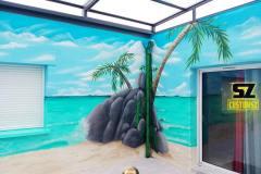 graffeur-professionnel-artiste-peintre-decorateur-bambou-plage-tropique-lagon-paysage-trompe-loeil-suoz-customsz-SZ-streetart-tageur
