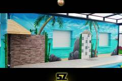 graffeur-professionnel-artiste-peintre-decorateur-graffiti-plage-tropique-lagon-paysage-trompe-loeil-suoz-customsz-SZ-street-art-decor-bordeaux-charentes-sud-aquitaine