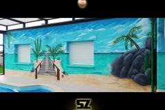 graffeur-professionnel-artiste-peintre-decorateur-graffiti-plage-tropique-lagon-paysage-trompe-loeil-suoz-customsz-SZ-street-art-decor