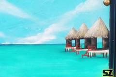 graffeur-professionnel-artiste-plage-tropique-iles-paradisiaque-ile-de-re