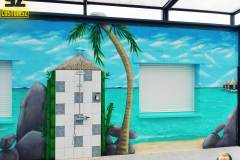 graffeur-professionnel-suoz-plage-tropique-lagon-paysage-trompe-loeil-suoz-customsz-SZ-cannes-nice-bordeaux-la-rochelle-monaco-paris