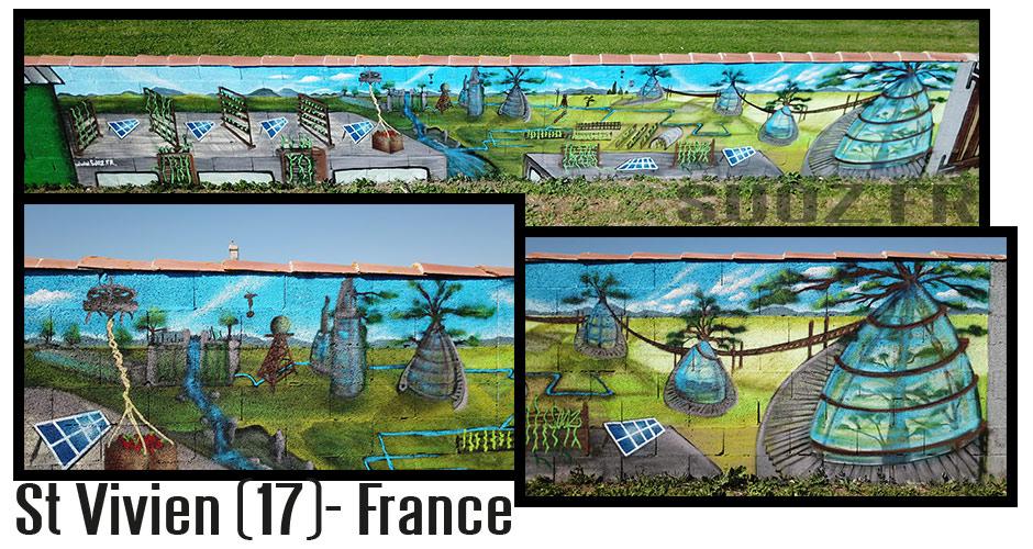 Atelier Graffiti - Jardin du Futur - Projet Jart'dingue - St Vivien (France)