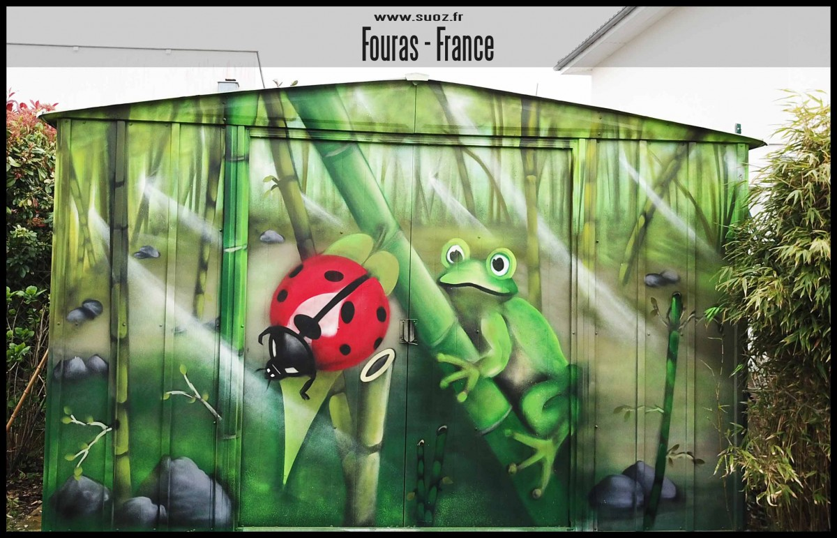 Décoration Graffiti- Nature - Bamboo - Fourras - grapheur Professionnel