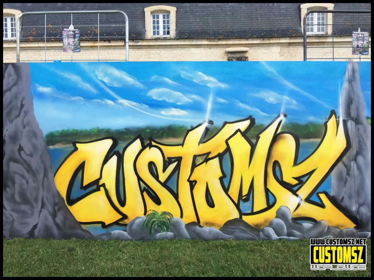 Graffiti Fort Boyard la Rochelle- Corderie Royale de Rochefort