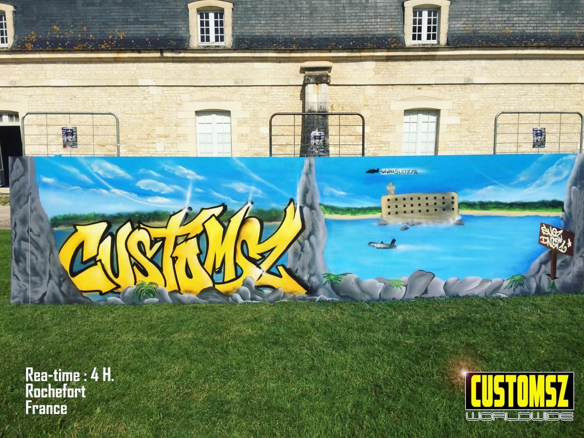 Graffiti Fort Boyard la Rochelle - Corderie Royale de Rochefort