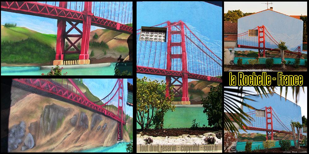 Graffeur Professionnel la Rochelle Golden Gate Bridge San Francisco décoration