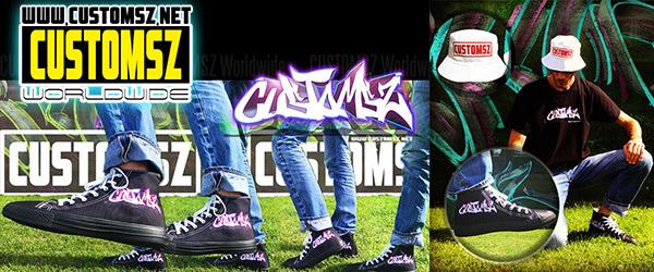 Personnalisation Custom tee shirt chaussure Graffiti la Rochelle - Décoration street art customsz worldwide boutique en ligne