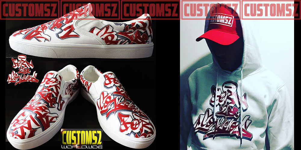 customsz worldwide graffiti shoes clothing hoodies sweat