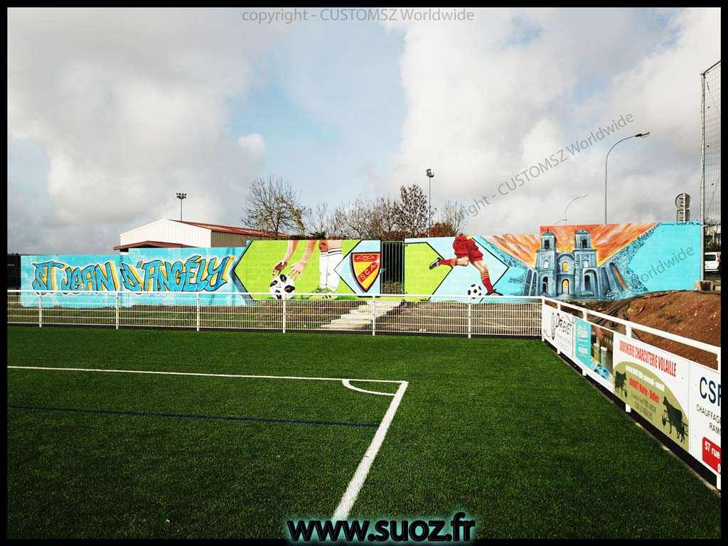 Graffiti-professionnel-decoration-decor-footbal-abbaye-club-la-rochelle-saint-jean-d'angely