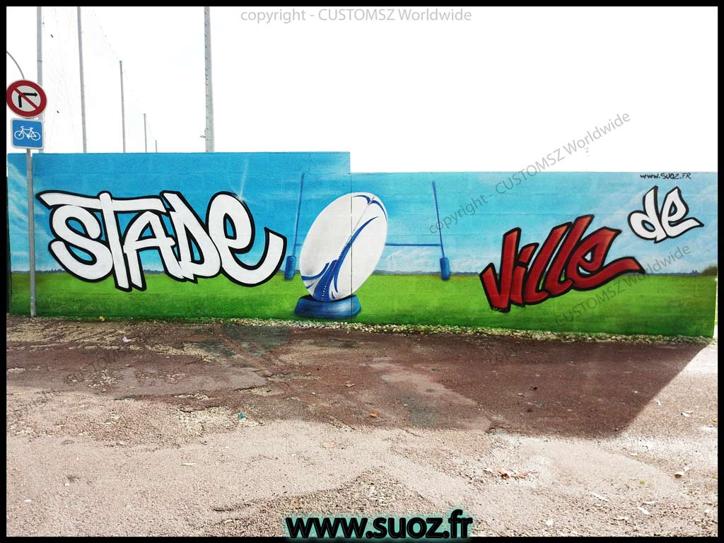 Graffiti-professionnel-decoration-decor-rugby-club-la-rochelle-saint-jean-d'angely