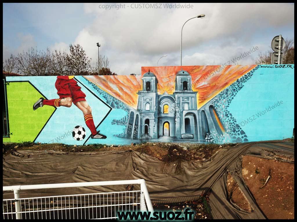 Graffiti-professionnel-decoration-foot-peinture-la-rochelle-saint-jean-d'angely-Abbaye