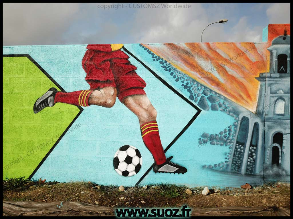 Graffiti-professionnel-decoration-decor-rugby-foot-club-la-rochelle-saint-jean-d'angely