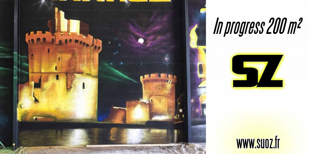 graffeur professionnel la Rochelledécoration Street art