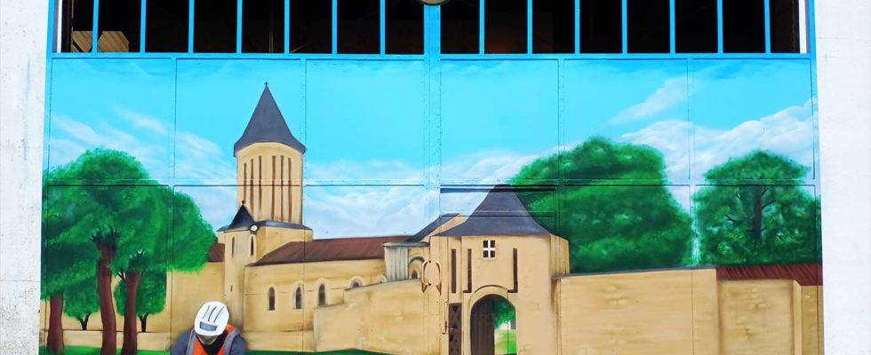 graffiti France EIFFAGE château de surgères graffeur professionnel suoz